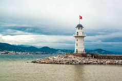 Alanya lighthouse Stock Photography