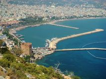 Alanya. Mediterranean sea. Turkey Royalty Free Stock Photography