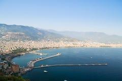 Alanya półwysep, Alanya, Turcja Turystów statki na morzu śródziemnomorskim Obraz Royalty Free