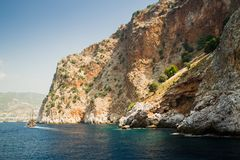 Alanya półwysep, Alanya, Turcja Zdjęcie Royalty Free