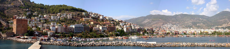 Alanya Panorama Royalty Free Stock Photography