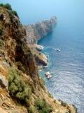 Alanya. The peninsula in Mediterranean sea. Turkey Royalty Free Stock Photos