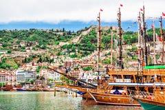 Alanya port, Turcja zdjęcie stock
