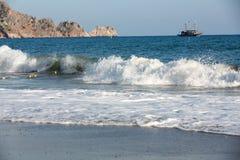 Alanya - a praia de Cleopatra Fotos de Stock Royalty Free