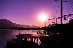 Alanya przy wschodem słońca Obrazy Royalty Free
