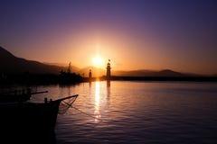 Alanya przy wschodem słońca Fotografia Royalty Free