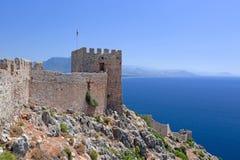 Alanya Schloss. Die Türkei Lizenzfreies Stockbild