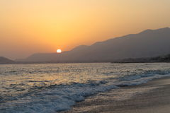 Alanya sunset Royalty Free Stock Photography