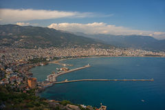 Alanya top view Stock Photography