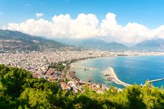 Free Alanya Turkey Aerial View. Panorama Cityscape And Landscape Of The Turkish City And Riviera In Summer. Royalty Free Stock Image - 158418566