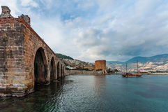 Alanya, Turkey. The Kızıl Kule (Red Tower) is a historical tower in the Turkish city of Alanya. The building is considered to be the symbol of the city, and is Stock Photos