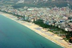 Alanya, Turquia. Com trajetos de grampeamento Fotos de Stock Royalty Free