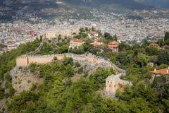 Alanyakasteel in Alanya, Antalya, Turkije royalty-vrije stock foto's