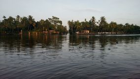 Alapuzha back water Royalty Free Stock Photos