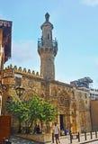 AlAqmar清真寺在开罗伊斯兰老城 库存图片