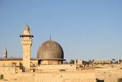 AlAqsa moské i Jerusalem Royaltyfria Bilder