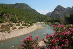 Alara fortress on a mountain river in Turkey Royalty Free Stock Image