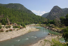 Alara fortress on a mountain river in Turkey Royalty Free Stock Photography
