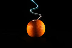 Alaranjado e luz 2 Imagem de Stock Royalty Free