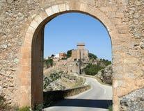 Alarcón Schloss, Spanien lizenzfreies stockfoto