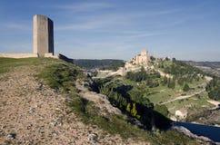 Alarcon. And Jucar river. Cuenca, Spain Stock Photos