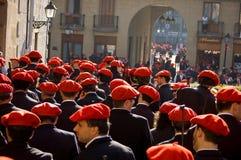 Alarde van San Marcial in Iru'n Guipuzcoa, Spanje Stock Afbeelding