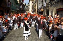 Alarde van San Marcial in Iru'n Guipuzcoa, Spanje royalty-vrije stock afbeeldingen