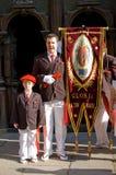 Alarde van San Marcial in Iru'n Guipuzcoa, Spanje royalty-vrije stock foto's