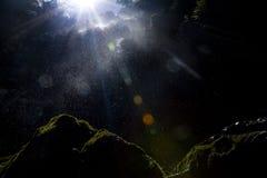 Alargamento da cachoeira Fotos de Stock Royalty Free
