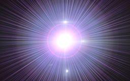 Alargamento da lente de Digitas, alargamento da lente, escapes claros, fundo abstrato das folhas de prova Imagem abstrata da ilum ilustração do vetor
