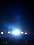 Alargamento da luz do concerto de rocha imagens de stock royalty free