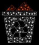 Alargamento Mesh Carcass Full Recycle Bin com pontos do alargamento ilustração royalty free
