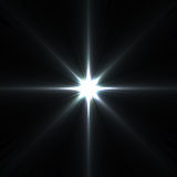 Alargamentos da estrela isolados no preto Fotografia de Stock Royalty Free
