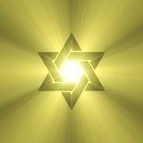 Alargamentos da luz do sol da estrela de David Imagem de Stock