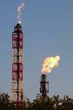 Alargamentos do gás fotografia de stock