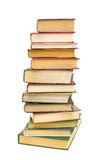 Alarge stack of books close-up Stock Photo