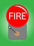 Alarm bell. An Illustration of a red alarm bell on green background Royalty Free Stock Photo