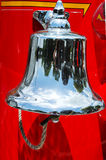 Alarm bell on old fire truck Royalty Free Stock Images