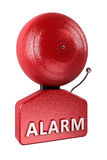Alarm Bell over white Royalty Free Stock Photos
