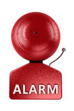Alarm Bell over white Stock Photo