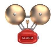 Alarm bell ringer. Isolated on white Stock Photo
