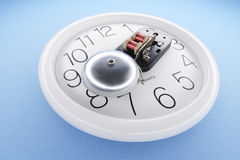 Alarm Bell on Wall Clock Royalty Free Stock Image