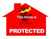 alarm bezpieczeństwa na dopuszczenie do obrotu w domu Zdjęcie Stock