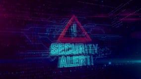 Alarm bezpiecze?stwa hologram royalty ilustracja
