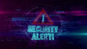 Alarm bezpiecze?stwa hologram ilustracja wektor