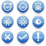 9 Alarm Bright Contrast icons Black Royalty Free Stock Photo