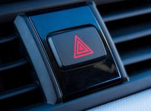 Alarm button on the front of the car.  royalty free stock photo