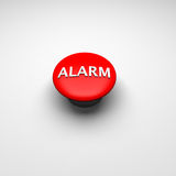 Alarm button. In red 3d rendered Royalty Free Stock Photography