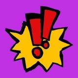 Alarm cartoon. Creative design of alarm icon Stock Photos