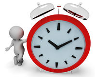 Alarm Character Indicates Alert Illustration And Time 3d Rendering Stock Photos